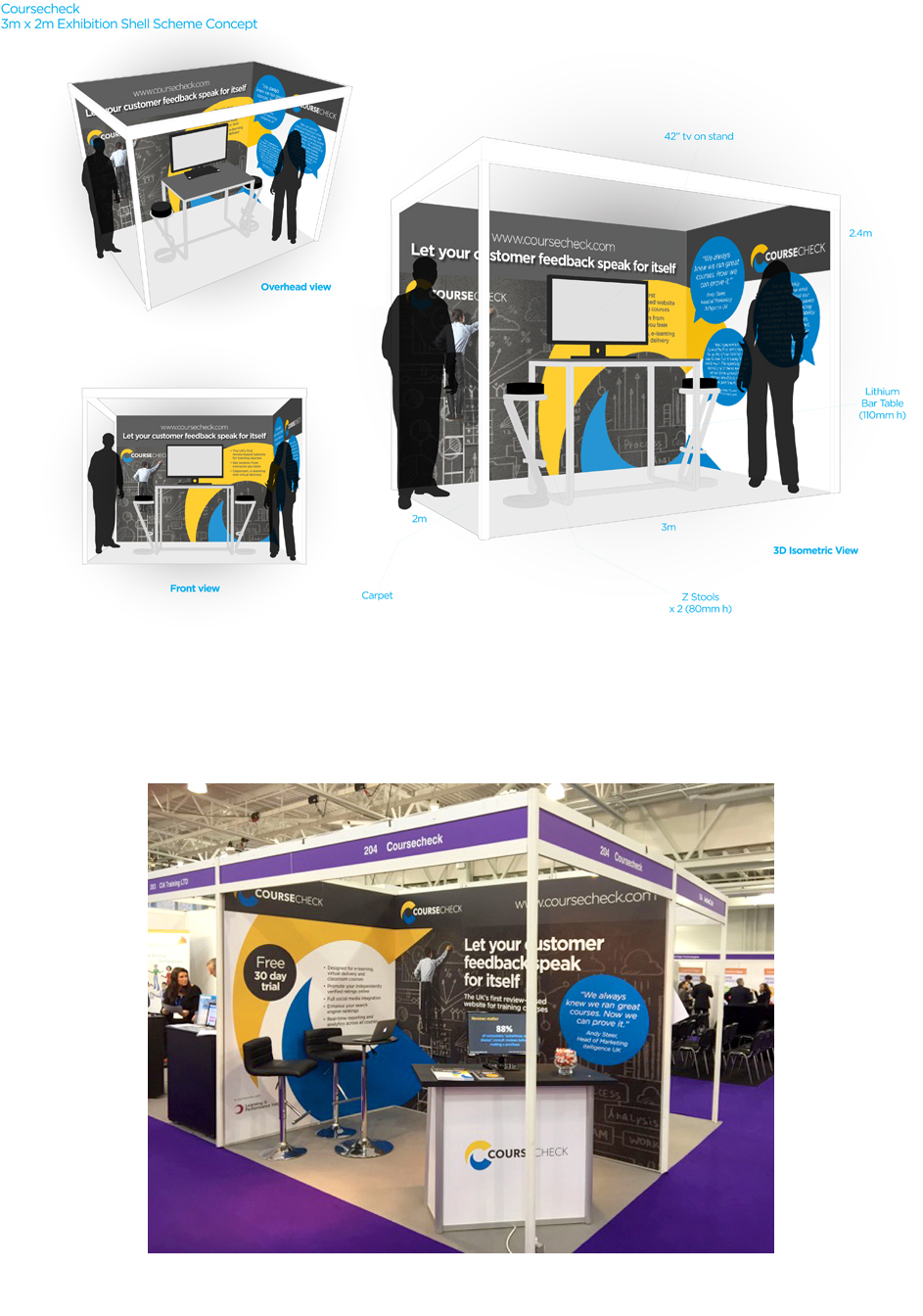 Exhibition Stand Design Course : Steve cripps graphic designer website